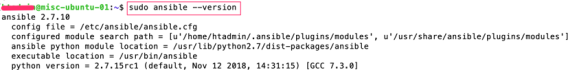 show-ansible-version
